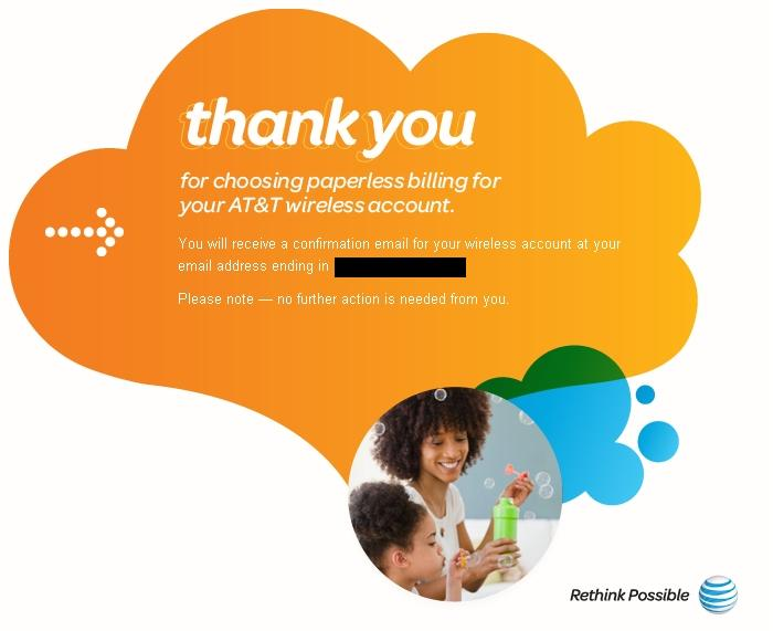 at&t paperless billing