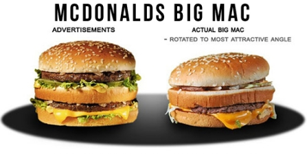 Examples of Misleading Advertising http://idaconcpts.com/2010/10/07/false-advertisement-of-fast-food/