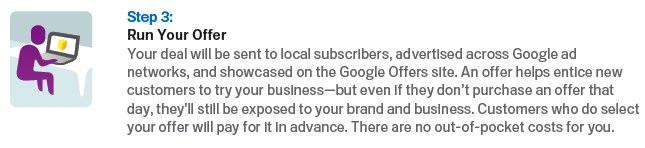 google offers step 3