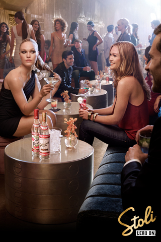 Julia Stiles Stoli Vodka print ad