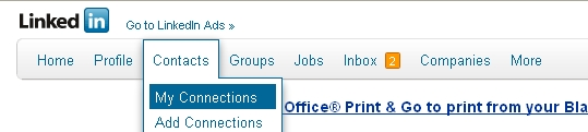 linkedin my contacts