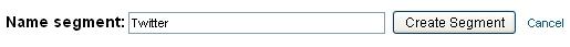 naming segment twitter in google analytics